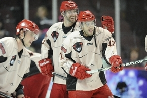 """Fake shirtless jerseys were part of an """"Over 18 Night"""" promotion, which featured adult-oriented comedians and movie clips amid the action on the ice. Wranglers left wing Adam Huxley and teammates  ..."""