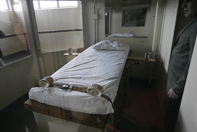 The execution chamber in Nevada State Prison in Carson City is shown in 2005. (Las Vegas Review-Journal file photo)