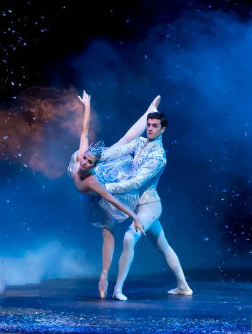 """Nevada Ballet Theatre's Alissa Dale and Steven Goforth will dance the Winter Fairy and Snow Prince this weekend's opening performances of """"The Nutracker"""" at The Smith Center for the Performing Art ..."""