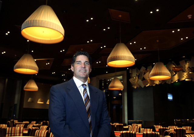 Bill McBeath stands in the Aria poker room in the CityCenter complex on Nov. 24, 2009, in Las Vegas. McBeath, is the former president of CityCenter, is the new CEO for the Cosmopolitan of Las Vega ...