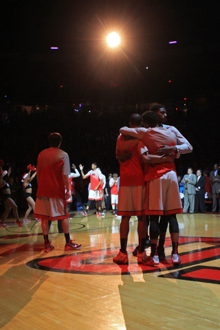 UNLV players are introduced before their game against Arizona Tuesday, Dec. 23, 2014 at the Thomas & Mack Center. (Sam Morris/Las Vegas Review-Journal)