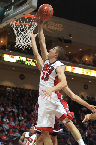 UNLV guard Charles Rushman drives to the basket against Saint Katherine during their game Friday, Dec. 5, 2014 at the Orleans Arena. UNLV won the game 113-53. (Sam Morris/Las Vegas Review-Journal)