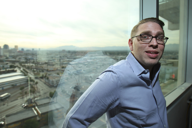 Daniel Steele, chief operating officer for The Influential Network, poses for a portrait inside his office in Las Vegas Thursday, Nov. 20, 2014. The Influential Network is a social media marketing ...
