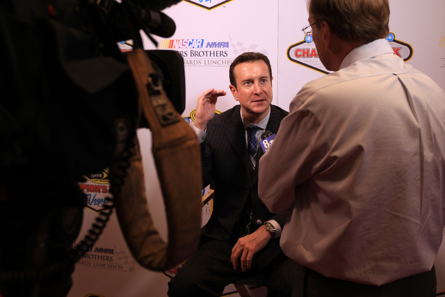 Kurt Busch is seen during a media availability as part of NASCAR's Champions Week Thursday, Dec. 4, 2014 at Encore. (Sam Morris/Las Vegas Review-Journal)
