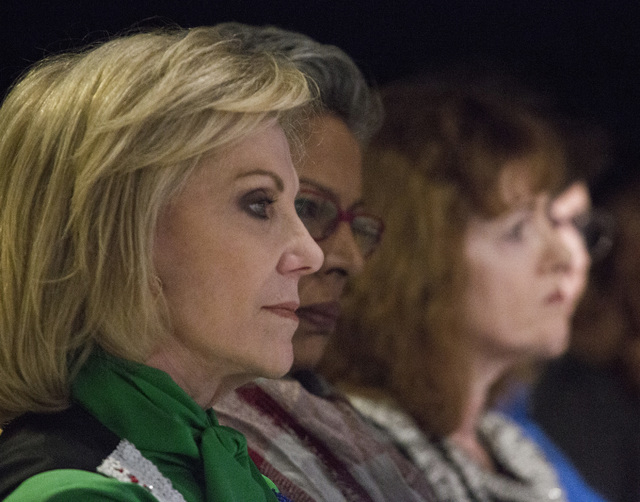 Elaine Wynn, president of the Nevada State Board of Education, sits in the audience during the K-12 Education Policy Committee panel discussion at Vegas PBS, 3050 E. Flamingo Road, on Tuesday, Dec ...