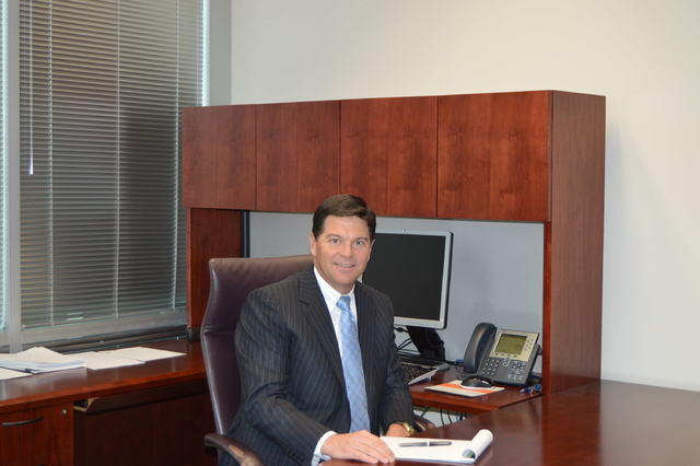 Dr. Robert B. McBeath, president and CEO of Southwest Medical Associates, leads the firm's growth from his office on Tenaya Way in northwest Las Vegas. (Photo by Stephanie Annis)