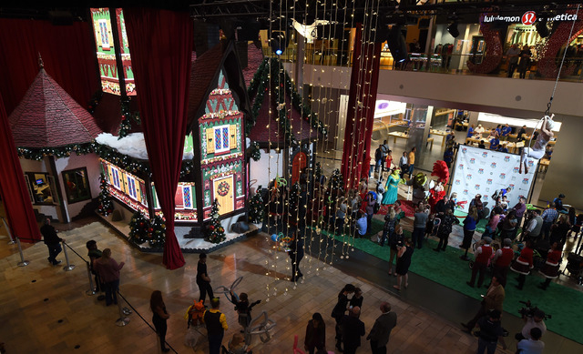 LAS VEGAS, NV - NOVEMBER 13:  A general view of the 2,000-square-foot Adventure to Santa experience at the Fashion Show mall is shown on November 13, 2014 in Las Vegas, Nevada. To make a reservati ...