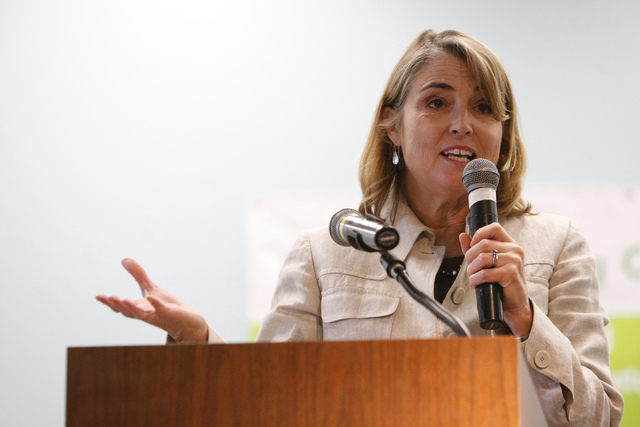 Kate Marshall, who lost a bid for secretary of state in November to Republican Barbara Cegavske, has been asking about the possibilities of a six-figure position at UNLV. (Erik Verduzco/Las Vegas  ...