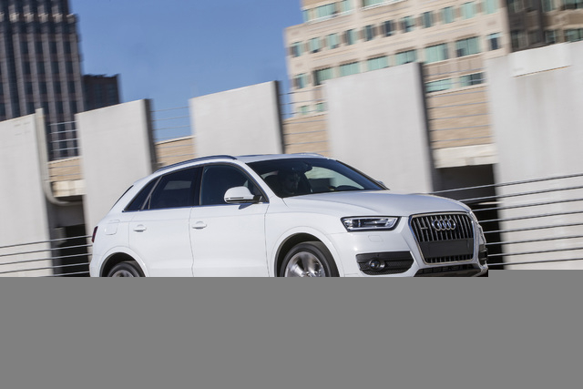 Courtesy photo The Q3 arguably qualifies as the best looking of Audi's Q family that includes the large Q7 and mid-size Q5. The Q3's simple-yet-neatly-balanced appearance has just the right body-t ...