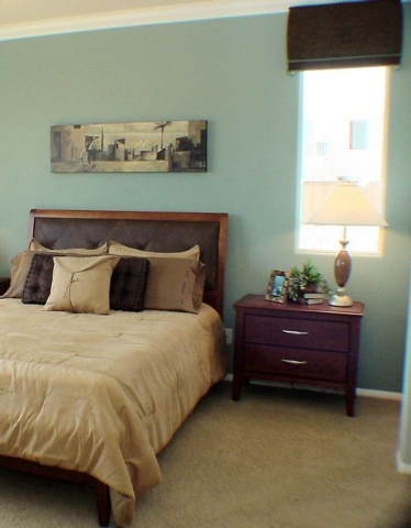 Courtesy Photo Painting the walls adds visual interest to a room.