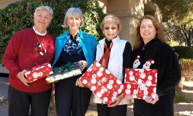 Carole Terry, from left, Susan Kubat, Lois Zellers and Lore Gochnour (Marian Umhoefer/Las Vegas Review-Journal)