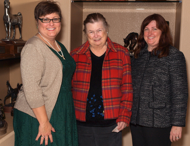 Patricia Downs, from left, Mary Downs and Nancy Gunn (Marian Umhoefer/Las Vegas Review-Journal)