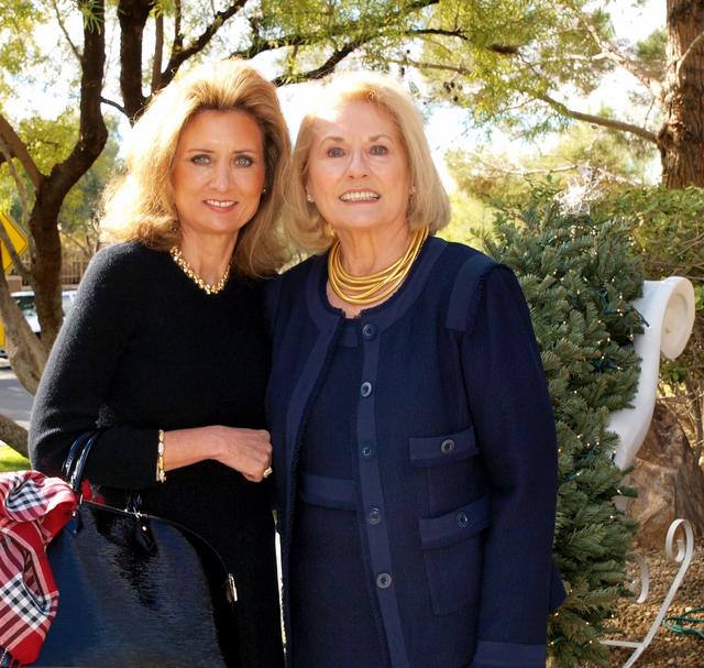 Liz Gibson, left, and Sandy Litton (Marian Umhoefer/Las Vegas Review-Journal)