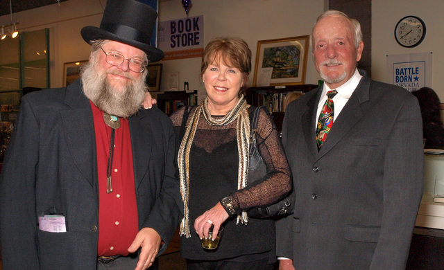 Mark Hall-Patton, from left, Robyn Carr and Jim Carr (Marian Umhoefer/Las Vegas Review-Journal)