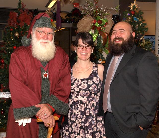 Santa, and Megan and Adam Neri (Marian Umhoefer/Las Vegas Review-Journal)
