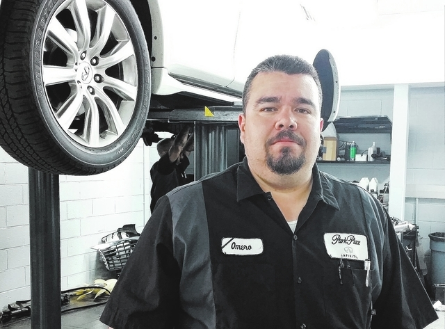 Courtesy photo Park Place Infiniti service technician team lead Omero Torres offers tips from the pros for keeping vehicle interiors looking like new.