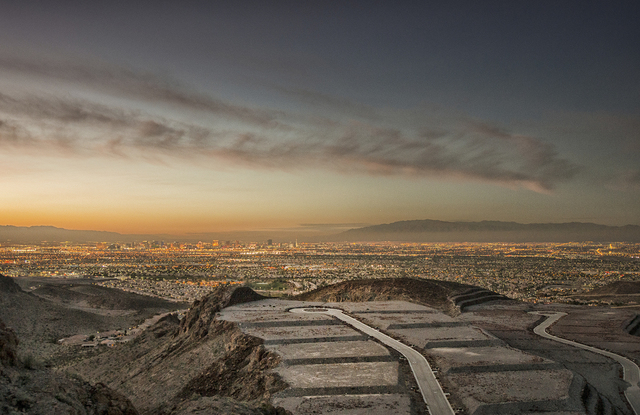 Courtesy photo Above, Ascaya atop the McCullough Range in Henderson is offering luxury home buyers a view of the valley floor instead of a private golf community.