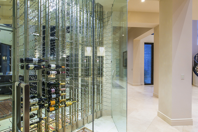 This home at 1 Drifting Shadow Way in The Ridges features a wine wall and is listed with Florence Shapiro with Berkshire Hathaway HomeServices Nevada for $3.2 million. (Courtesy photo)