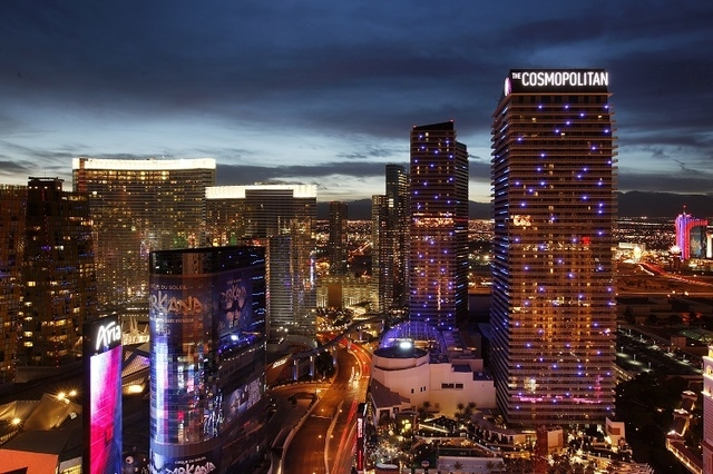 The Nevada Gaming Commission signed off on the $1.73 billion purchase of The Cosmopolitan of Las Vegas by Blackstone Real Estate Partners VII, Dec. 18, 2014. (John Locher/Las Vegas Review-Journal)