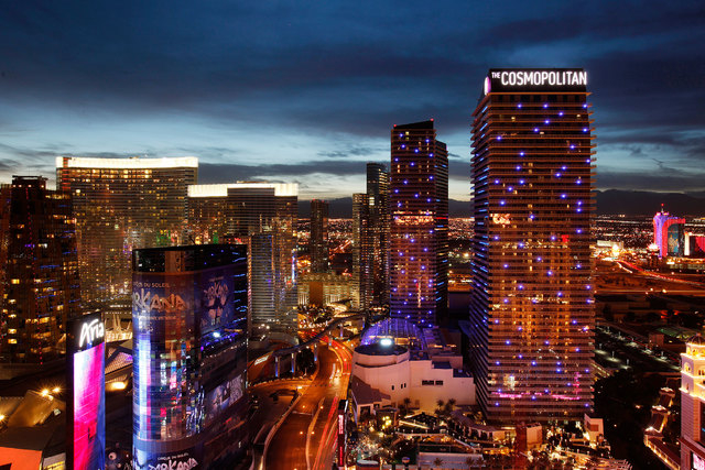 The Gaming Control Board gave preliminary approval Wednesday, Dec. 3, 2014, to the Blackstone Group to acquire the Cosmopolitan of Las Vegas for $1.73 billion. (John Locher/Las Vegas Review-Journa ...