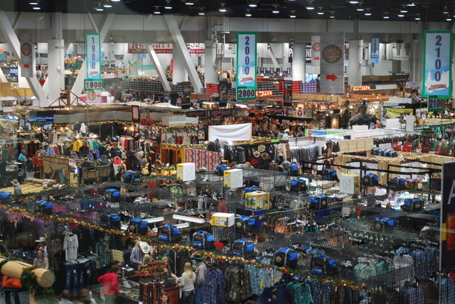 The Cowboy Christmas Gift Show at the Las Vegas Convention Center features hundreds of vendor booths