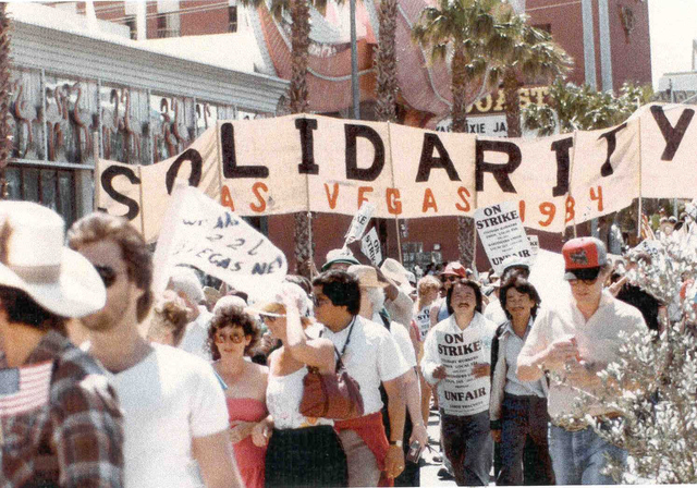1984 Culinary Union strike on the Strip. (Courtesy photo)