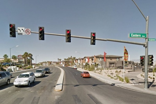 The intersection of Eastern Avenue and Coronado Center Drive (Screengrab, Google Maps)