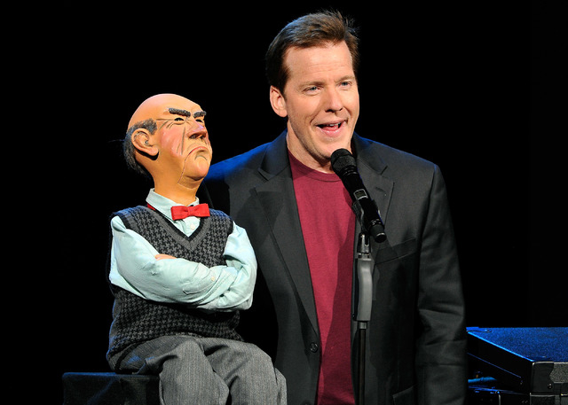 Ventriloquist Jeff Dunham performs with his puppet Walter at Planet Hollywood Resort on Sunday, Nov. 30, 2014. (David Becker/Las Vegas Review-Journal)