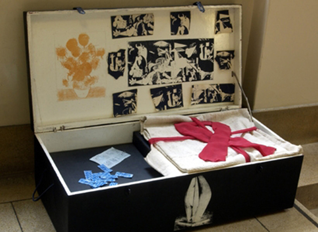 A memory box created in England through Home Instead Senior Care is shown. The boxes contain items that might help Alzheimer's patients stir their memories. (Special to View)