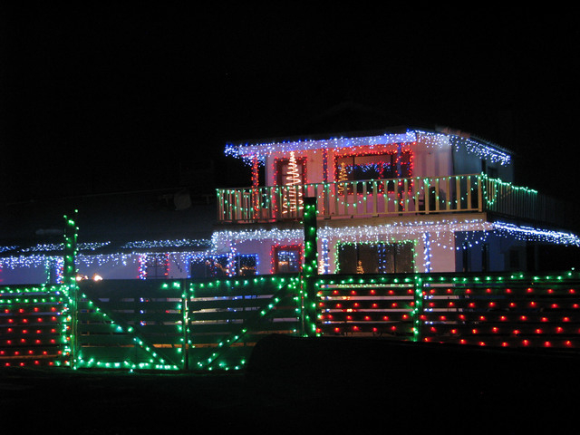A southwest-area home near the corner of West Capovilla Avenue and Cameron Street includes an illuminated fence. (F. Andrew Taylor/View)