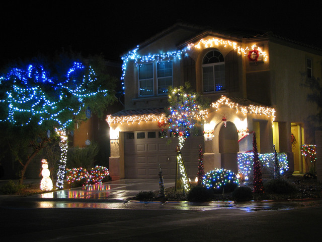 A home on the corner of Alta Lima Valley Court and Big Sur Mountain Street is one of several in the southwest valley that went all out with holiday lights. (F. Andrew Taylor/View)