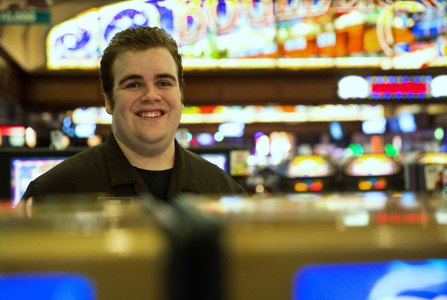 Sam Sedgwick said his job as a porter at Boulder Station allows him to be more independent and pay his own bills. (Samantha Clemens-Kerbs/View)