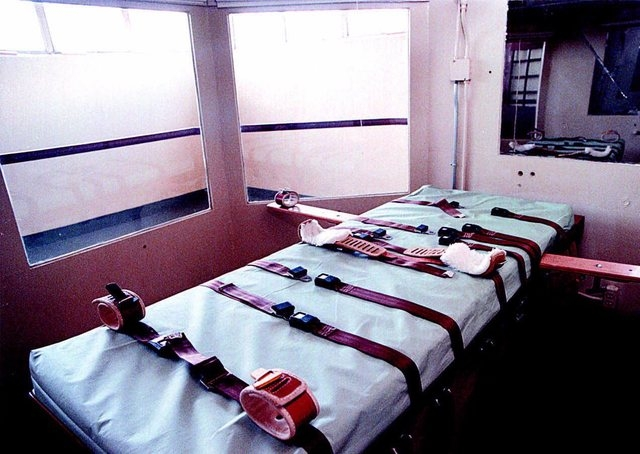 The execution chamber at the Nevada State Prison in Carson City, Nev., is shown Thursday,  March 22, 2001. Sebastian Bridges, a South African national, is scheduled to be executed on April 21, for ...