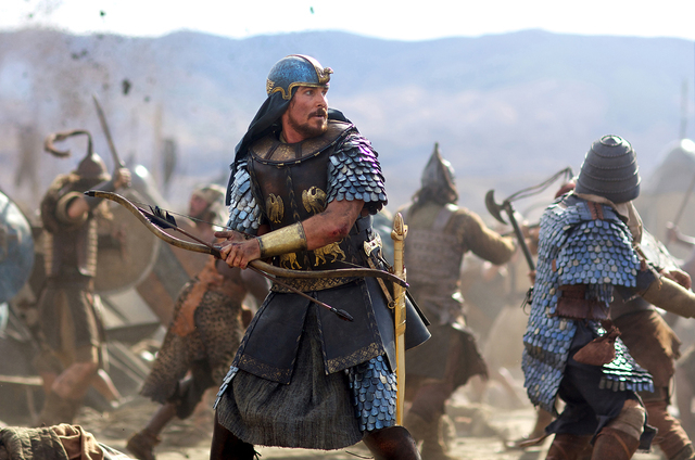 "Christian Bale stars as Moses in ""Exodus: Gods and Kings."" 	TM and © 2014 Twentieth Century Fox Film Corporation. All Rights Reserved. Not for sale or duplication."