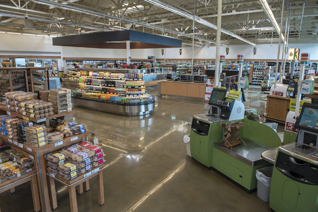The new interior of Fresh and Easy supermarket on 4760 W. Cactus Ave. in Las Vegas Friday Dec. 5, 2014. (Martin S. Fuentes/Las Vegas Review-Journal)