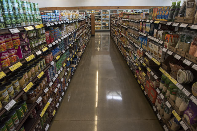 The new interior of Fresh and Easy supermarket on 4760 W. Cactus Ave. in Las Vegas Friday Dec. 5, 2014. The new look features a fresh to go island. (Martin S. Fuentes/Las Vegas Review-Journal)