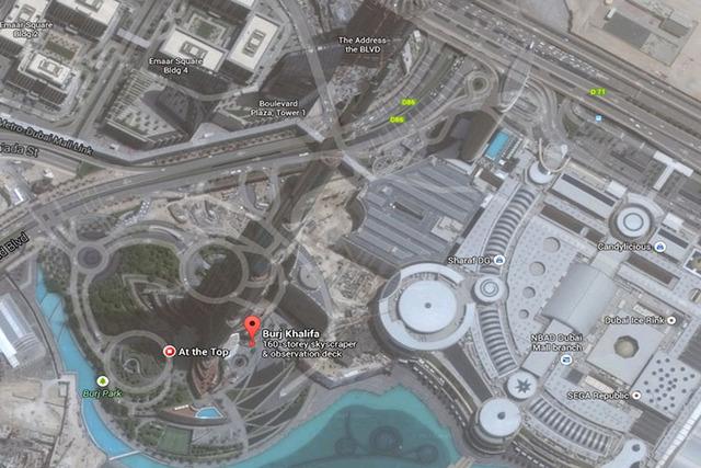 View from the top of Burj Khalifa skyscraper. (Screen grab/Google Street View)