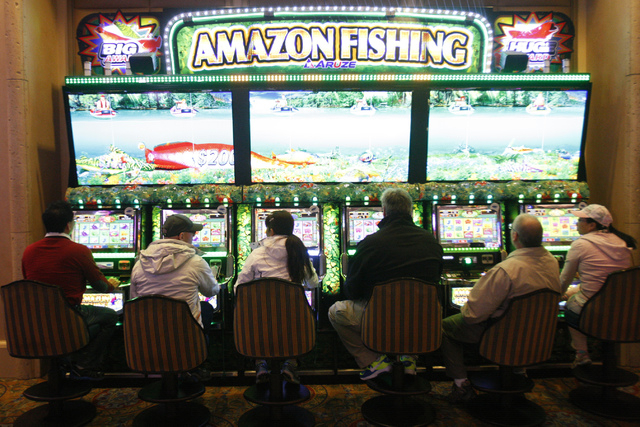 The gaming area at the Palazzo casino-hotel in Las Vegas is seen on Tuesday, Dec. 30, 2014. (Erik Verduzco/Las Vegas Review-Journal)