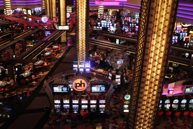 The gaming area at Planet Hollywood casino-hotel in Las Vegas is seen on Tuesday, Dec. 30, 2014. (Erik Verduzco/Las Vegas Review-Journal)