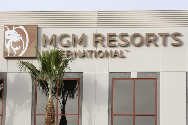 MGM Resorts International, 840 Grier Drive, in Las Vegas is seen on Monday, Dec. 1, 2014. (Erik Verduzco/Las Vegas Review-Journal)