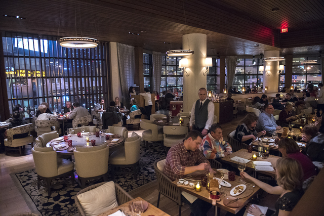 Customers dine inside Giada at The Cromwell on Wednesday Nov. 26, 2014. (Martin S. Fuentes/Las Vegas Review-Journal)