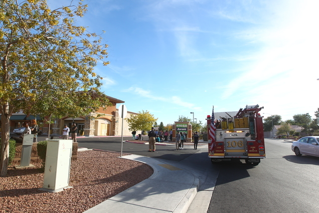 The North Las Vegas Fire Department and hazmat team responded about 12:45 p.m. to the State of Nevada Division of Welfare and Supportive Services building at 3223 W. Craig Road, Tuesday, Dec. 9, 2 ...