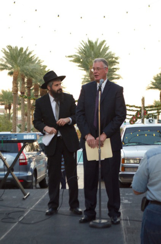 Chabad of Green Valley brought together the Jewish community to celebrate Chanukah with an event Dec. 1 at The District at Green Valley Ranch co-sponsored by the Jewish Federation of Las Vegas. Ra ...
