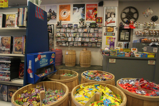 Movies & Candy, 10895 S. Eastern Ave., in Henderson is seen on Tuesday, Dec. 9, 2014. The movie rental and candy shop opened two years ago and has expanded their movie collection to about 25,000 m ...