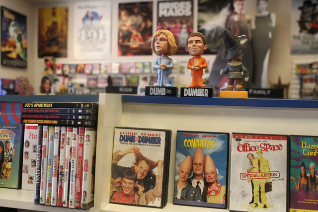 Movie titles are seen inside Movies & Candy, 10895 S. Eastern Ave., in Henderson Tuesday, Dec. 9, 2014. The movie rental and candy shop opened two years ago and has expanded their movie collection ...