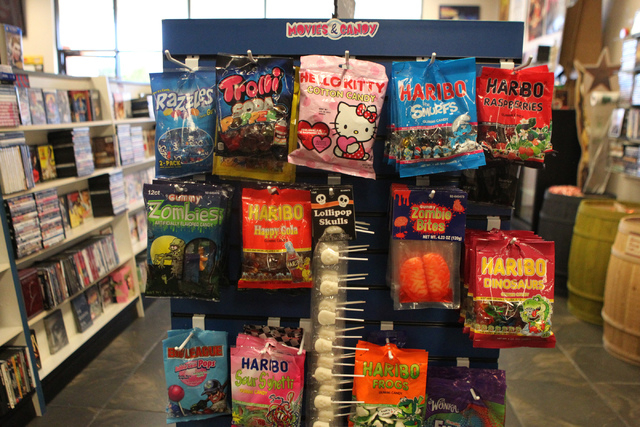 Candy is seen inside Movies & Candy, 10895 S. Eastern Ave., in Henderson Tuesday, Dec. 9, 2014. The movie rental and candy shop opened two years ago and has expanded their movie collection to abou ...