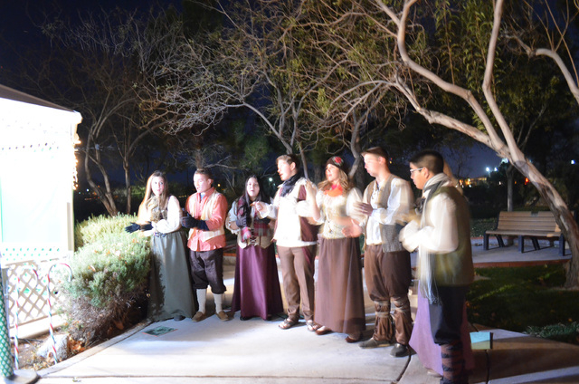 Members of Green Valley High School's Madrigals perform at Heritage Street Holidays at the Clark County Museum, 1830 S. Boulder Highway, Dec. 14, 2013. (Ginger Meurer/Las Vegas Review-Journal)