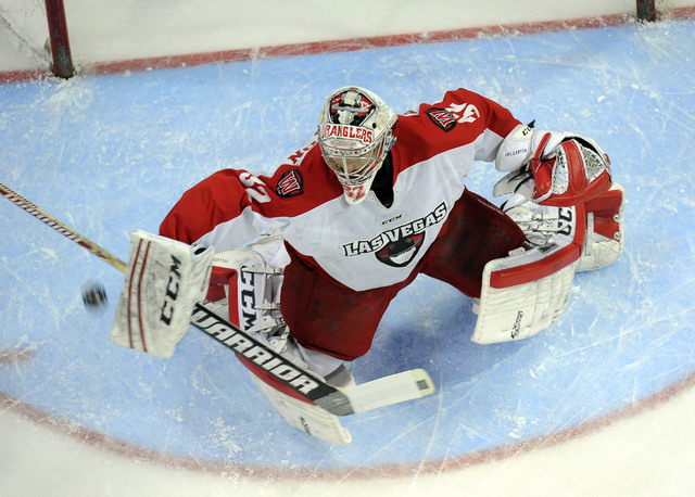 Las Vegas Wranglers played in the ECHL from 2003 to 2014 and made the Kelly Cup finals twice. When the team lost its lease at the Orleans Arena, it suspended operations for this season. In this sh ...