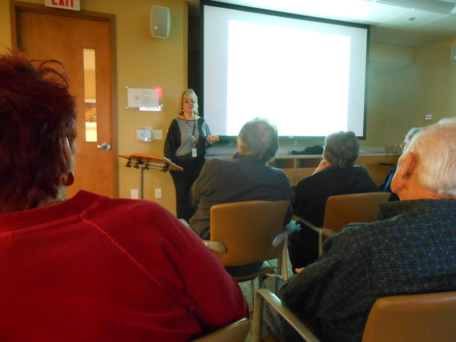 Certified therapist Stacy Hakes gives a presentation on holiday blues Nov. 20, 2014, at the Southwest Medical Associates Lifestyle Center-West, 8670 W. Cheyenne Ave. The holidays can be depressing ...