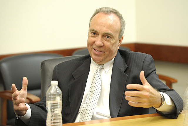 Fred Horvath, Henderson assistant city manager, speaks during an interview with the Review-Journal editorial board on May 15, 2014. Horvath was arrested on suspicion of driving under the influence ...